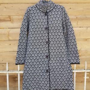 wool blend long cardigan